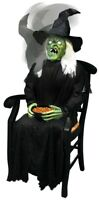 Sitting Witch Scare Animated Prop Porch Greeter Pop Up Lifesize Halloween Wicked