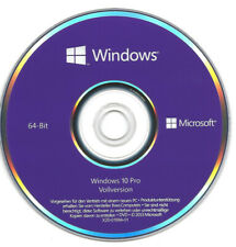 MS Microsoft Windows 10 Pro 64 Bit DVD Hologramm + Win 10 Pro Key OEM