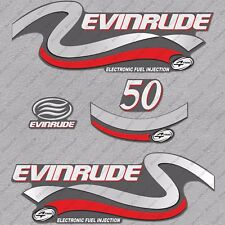 Evinrude 50 Hp Four Stroke outboard engine decals sticker set reproduction 50HP