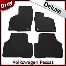 VW Passat B6 B7 2005-2015 Oval Clips Tailored LUXURY 1300g Carpet Car Mats GREY