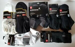 Under Armour Men Women UA Heatgear Resistor Performance Training 3 6 Pair Sock