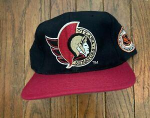Vintage 90s Ottawa Senators NHL Starter Wool Snapback Hat Baseball Cap