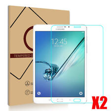 "2X TEMPERED GORILLA GLASS SCREEN PROTECTOR SAMSUNG GALAXY TAB S2 8.0""T710 T715"