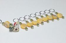 Handmade Beaded Knitting Stitch Markers (SNAG FREE)- Barnyard Rooster