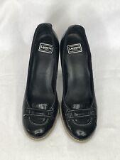 Lacoste Missie Gloss USA Platform Pump Size 6.5, Black