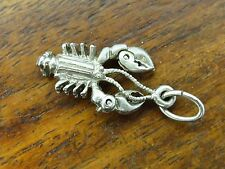 Vintage silver BEAU MAINE STATE MOVABLE CLAWS LOBSTER charm RARE BEAUCRAFT