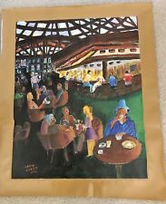 """AUTHENTIC ARTAGRAPH OIL PAINTING """"A BAR SCENE"""" BY LOU NIZER SIGNED # 58 / 700"""