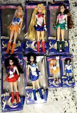 "Vintage Sailor Moon 7 Doll Lot 1995 Bandai all 5 Deluxe 11.5"" + 6"" Mercury/Venus"