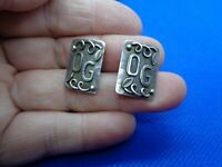 A PAIR OF VICTORIAN GERMAN ARTS & CRAFTS SILVER CUFFLINKS