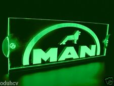 24V LED Green Cabin Interior Light Plate for MAN Truck Laser Engraved Neon Sign