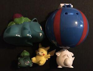 5X Pokemon Figures TOMY Chansey Pikachu Bulbasaur Ivysaur Burger King Great Ball
