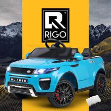 Rigo Kids Ride On Car Electric 12V Children Cars Battery Remote Toys SUV Blue