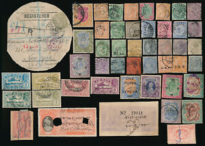 48 OLD INDIA & INDIA STATES STAMPS (POSTAGE & REVENUE) SEE PICTURES > NO RESERVE