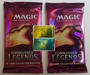 MTG COMMANDER LEGENDS COLLECTOR BOOSTER plus THEROS Regular and Premium Promos