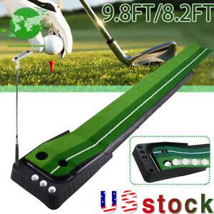 NEW Golf Practice Putting Mat Training Green Grass Auto Return Indoor Outdoor