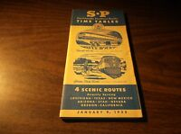 JANUARY 1955 SOUTHERN PACIFIC SYSTEM PUBLIC TIMETABLE