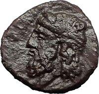 GELA in SICILY 315BC Hercules River-God Gelas RARE R2 Ancient Greek Coin i58786