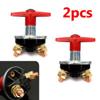 2Pcs 12V 24V 60V Key Battery Isolation Isolator Cut Off Kill Switch Car Marine