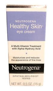 Neutrogena Healthy Skin Eye Cream Multi-vitamin Alpha-Hydroxy Acid 0.5 oz