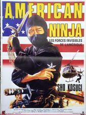 """AMERICAN NINJA (NINE DEATHS OF THE NINJA)"" Affiche originale (Sho KOSUGI)"