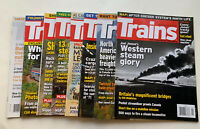 """Trains """"The Magazine of Railroading""""  Lot Of 8 Issues from Year 2012 Jan-Dec"""