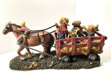 "Nib Boyds Bears Ltd. Ed. Large Resin ""The Haymaker Family."" #4015167 Rare New"