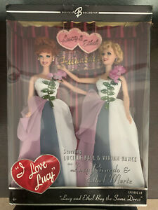 NEW IN BOX I LOVE LUCY BARBIE DOLL EPISODE 69 LUCY & ETHEL BUY THE SAME DRESS