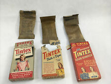 Vintage Tintex Fabric Dye & Color Remover Old Rose & Gold Old Advertising Boxes