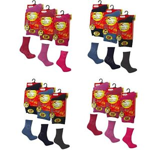KIDS BOYS GIRLS CHILDRENS WINTER WARM SOCKS THERMAL THICK TOG 2.45 INSULATED