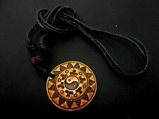 A MENS/BOYS  BLACK CORD SURFER TRIBAL ADJUSTABLE NECKLACE. NEW.
