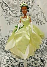 """Disney Store Princess & The Frog Tiana Barbie Posable Doll 12"""" Detailed Dress"""
