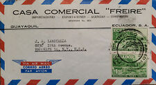 L) 1960 ECUADOR, RAILWAY, BRIDGE, SARACAY, GREEN, AIRMAIL, CIRCUALTED COVE FROM