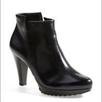 PAUL GREEN Alexa Ankle Boots Hign Heel Bootie Black 9.5 US
