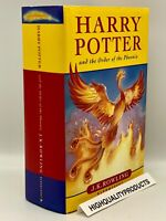 1st FIRST BRITISH Edition First Printing HARRY POTTER and ORDER OF THE PHOENIX