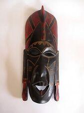 Ältere Holzmaske aus Afrika Kenia Troppenholz hand-geschnitzt 36 cm hoch