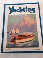 Vintage November 1935 Yachting magazine .Boating advertisements