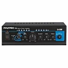 PYLE PTA4 MINI 2 X 120 WATT STEREO POWER AMPLIFIER W/ AUX CD INPUT