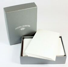 Crown Mill Silver Line 100 x Mini Note Cards 6.5 x 9.5cm White NEW
