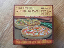 PIZZACRAFT 3PC. MINI DEEP DISH UPSIDE-DOWN ''FOR A DIFFERENT KIND OF PIZZA''