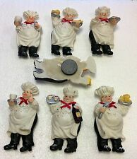Italian Fat Chef Waiter 6 Pcs Magnets refrigerator Home Kitchen Fridge