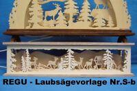 """REGU - Laubsägevorlage - SOCKELBANK """"Tiere auf Waldlichtung"""" f. SCHWIBBOGEN Sb9"""