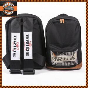 Black Bride JDM Style Motorsport Backpack Bag Rucksack Racing Harness Straps