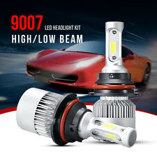 9007 HB5 72W 8000LM LED Headlight Kit High/Low Beam 6500K Bulbs S2 Car Auto
