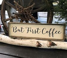 But First Coffee, Coffee Lover, Gift, Coffee Decor, Wooden Coffee Sign
