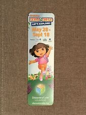 RARE Nickelodeon Dora the Explorer & Diego Discovery Cube Promotional Bookmark
