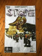 Aussie movie poster approved by Sandy Harley Kawasaki FREE COOLER stone