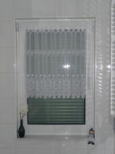 Scheibengardine Gardine Scheibenhänger Panneaux Vorhang 50cm hoch weiß