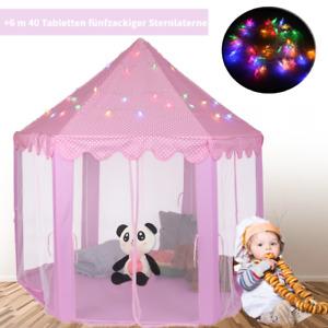 Spielzelt Spielhaus Prinzessin Bällebad Spielhöhle Kinderhaus+6Meter 40Tabletten