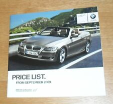 BMW 3 Series E93 Convertible Price List 2009 - 330i 335i 320d 325d 330d M Sport