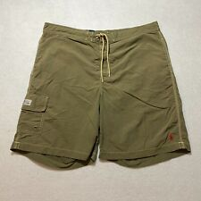 Vintage Polo Ralph Lauren Swim Trunks Size XL Green Embroidered Shorts Mens
